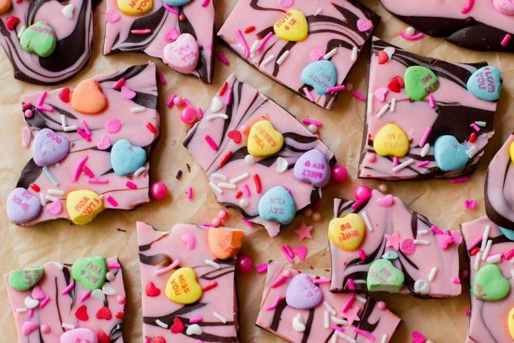 """<p>Conversation hearts are just better with chocolate.</p><p>Get the recipe from <a rel=""""nofollow"""">Delish</a>.</p>"""
