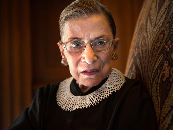"Supreme Court Justice Ruth Bader Ginsburg. <p class=""copyright"">Nikki Kahn/The Washington Post via Getty Images</p>"
