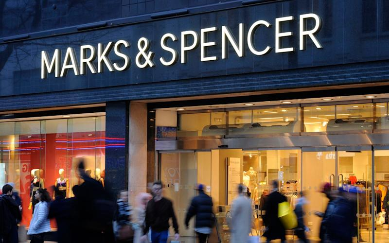 Marks & Spencer suffered declines in both its clothing and food departments - PA