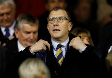 FILE PHOTO: Soccer Football - International Friendly - Scotland vs Netherlands - Pittodrie Stadium, Aberdeen, Britain - November 9, 2017 Chief Executive of the Scottish Football Association Stewart Regan in the stands before the match REUTERS/Russell Cheyne