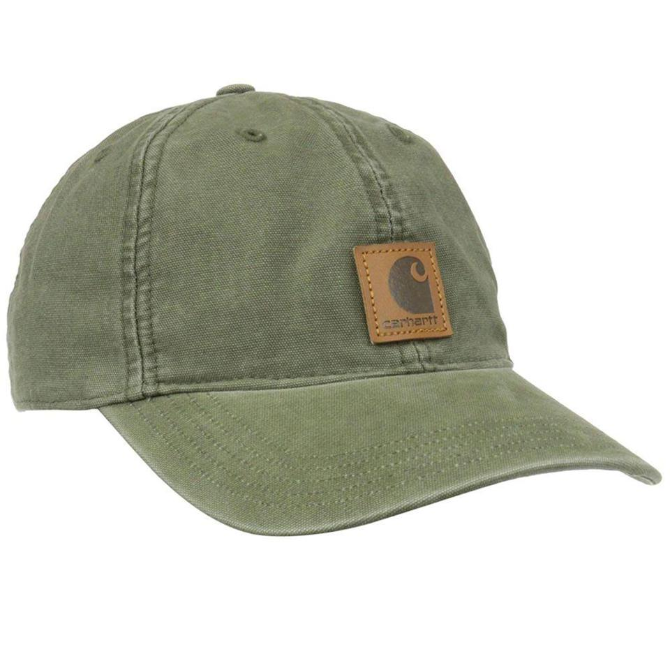 """<p><strong>Carhartt</strong></p><p>amazon.com</p><p><strong>$16.99</strong></p><p><a href=""""http://www.amazon.com/dp/B00B354UUM/?tag=syn-yahoo-20&ascsubtag=%5Bartid%7C10055.g.399%5Bsrc%7Cyahoo-us"""" rel=""""nofollow noopener"""" target=""""_blank"""" data-ylk=""""slk:Shop Now"""" class=""""link rapid-noclick-resp"""">Shop Now</a></p><p>Swap out his dingy high school cap for this vintage-inspired option that looks more sophisticated without sacrificing comfort.</p>"""