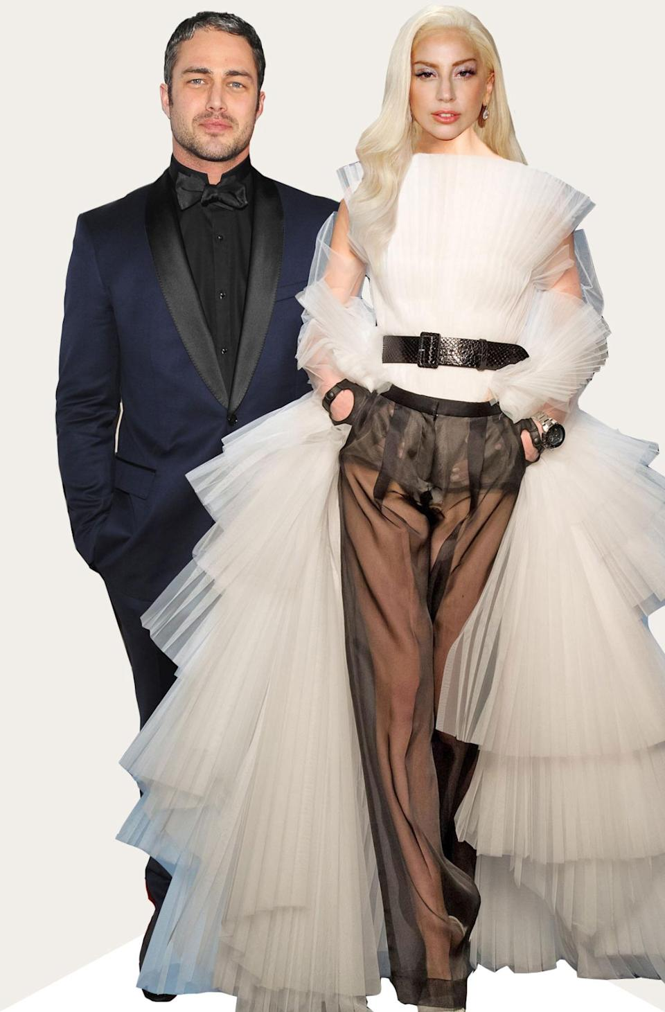 On the one hand, Gaga might wear this look grocery shopping. On the other, it'd make a fabulous wedding dress.