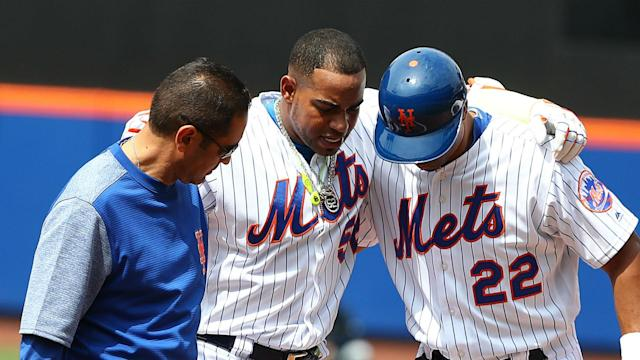 Yoenis Cespedes' season is officially over.