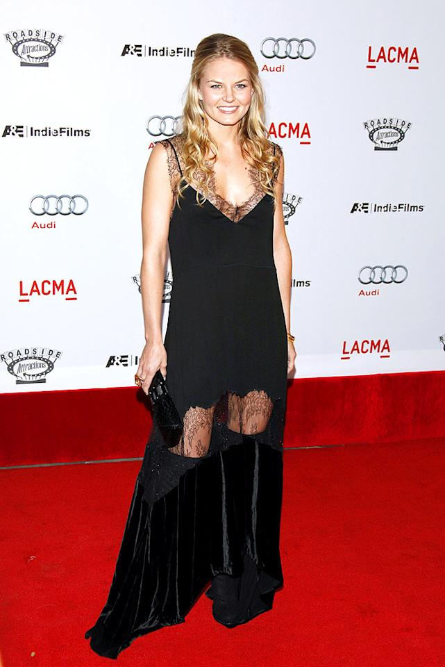 """Jennifer Morrison should have known better; a lace dress -- that looks like it's been attacked by a swarm of ravenous moths -- would never be met with rave reviews. Jean Baptiste Lacroix/<a href=""""http://www.wireimage.com"""" target=""""new"""">WireImage.com</a> - September 8, 2009"""