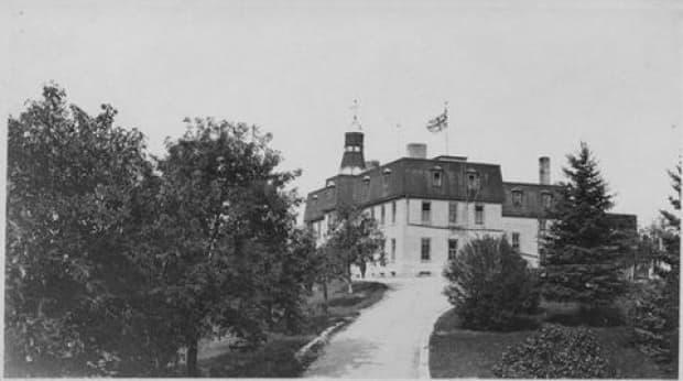 The former Brandon Residential School building was torn down in 2000.