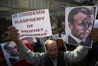 Thousands of protesters have denounced Macron in demonstrations in many Muslim countries.