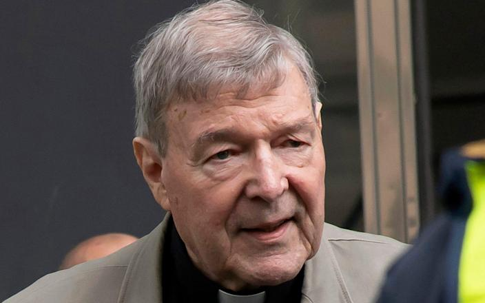 Cardinal George Pell was convicted then acquitted of the sexual abuse of two choirboys in Melbourne cathedral - AP