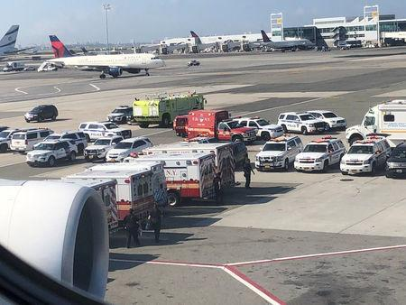 Plane with sick passengers quarantined at JFK