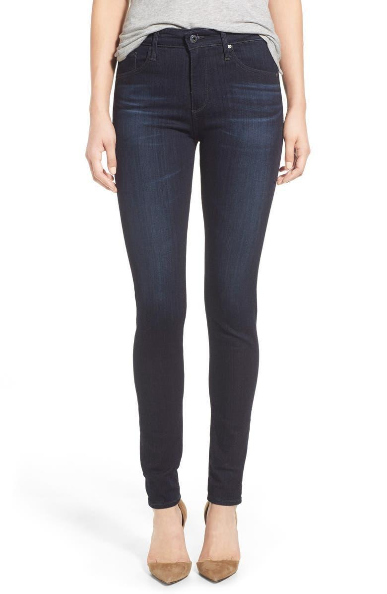 """<h2>AG The Farrah High Waist Skinny Jeans</h2><br><em><strong>The Closet Staple<br></strong></em><br>L.A. denim brand AG is a go-to brand for high-quality jeans that stand the test of time, both for the quality construction and timeless designs. This slightly faded dark-wash pair feature a comfortable fit and simple silhouette that'll complement all sorts of stuff in your closet for years to come. <br><br><strong>The Hype: </strong>4.6 out of 5 stars; 410 reviews on Nordstrom.com<br><br><strong>What They're Saying</strong>: """"A closet staple - dark skinny jeans without any crazy wiskering and fading effects - these are perfect. I'm long-waisted so on me these really are more like a mid-rise, but they fit really well - no gaping at the waist (I have wide hips, booty, and small waist). Also - and this is key for us gals with volume on the lower half - the pocket placement is really really good. Pockets can make or break jeans, especially with a high-waisted cut, and these are perfectly placed. The fabric is also really nice - lightweight but with good stretch to hold you in. True to size - a little long but since they're skinny you can scrunch or roll them easily."""" — lt007, Nordstrom.com reviewer<br><em><br>Shop <strong><a href=""""https://www.nordstrom.com/s/ag-the-farrah-high-waist-skinny-jeans-brooks/3707410"""" rel=""""nofollow noopener"""" target=""""_blank"""" data-ylk=""""slk:Nordstrom.com"""" class=""""link rapid-noclick-resp"""">Nordstrom.com</a></strong></em><br><br><strong>AG</strong> The Farrah High Waist Skinny Jeans, $, available at <a href=""""https://go.skimresources.com/?id=30283X879131&url=https%3A%2F%2Fwww.nordstrom.com%2Fs%2Fag-the-farrah-high-waist-skinny-jeans-brooks%2F3707410"""" rel=""""nofollow noopener"""" target=""""_blank"""" data-ylk=""""slk:Nordstrom"""" class=""""link rapid-noclick-resp"""">Nordstrom</a>"""