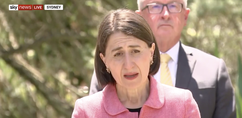 Gladys Berejiklian during a press conference on October 13.