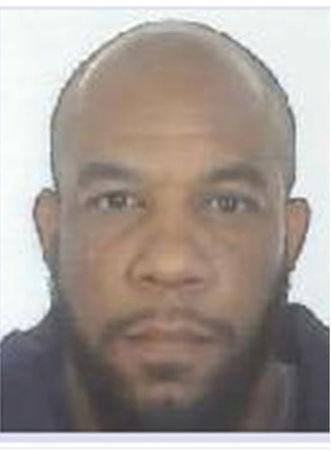 A handout photograph released by the Metropolitan Police shows a mugshot of Khalid Masood