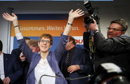 Reactions on Saarland state elections in Saarbruecken