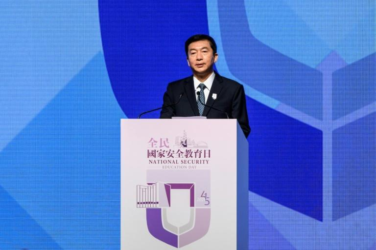 """Luo Huining, Beijing's top envoy in Hong Kong, gave a fiery speech vowing to """"strike down hard resistance and regulate soft resistance"""" in Hong Kong"""