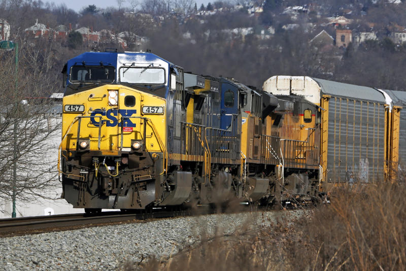 csx railroad nearly doubles 3q profit as reforms chug ahead
