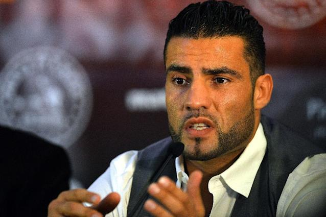 Manuel Charr, pictured here at a press conference in Manchester on May 1, 2013, was shot in the stomach following a late night argument in a kebab snack bar in Essen (AFP Photo/Paul Ellis)