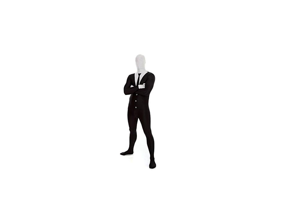"<p><strong>Morphsuits</strong></p><p>amazon.com</p><p><strong>$25.25</strong></p><p><a href=""https://www.amazon.com/dp/B0081UB0CS?tag=syn-yahoo-20&ascsubtag=%5Bartid%7C10055.g.4564%5Bsrc%7Cyahoo-us"" rel=""nofollow noopener"" target=""_blank"" data-ylk=""slk:Shop Now"" class=""link rapid-noclick-resp"">Shop Now</a></p><p>The creepy internet legend costume comes with 4-way stretch and zippers, making for a comfier fit!</p>"