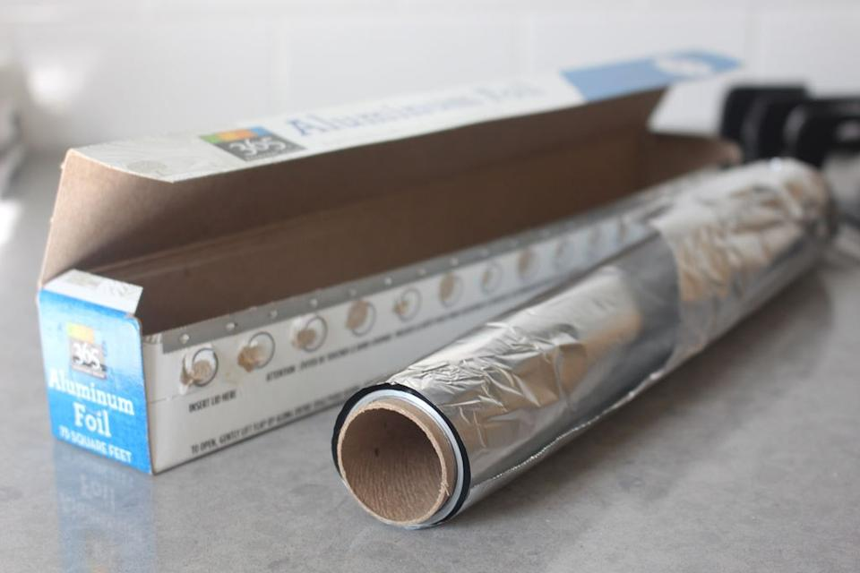 Aluminum foil out of the box