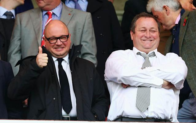 <span>Lee Charnley and Mike Ashley pictured in 2015</span> <span>Credit: Getty images </span>