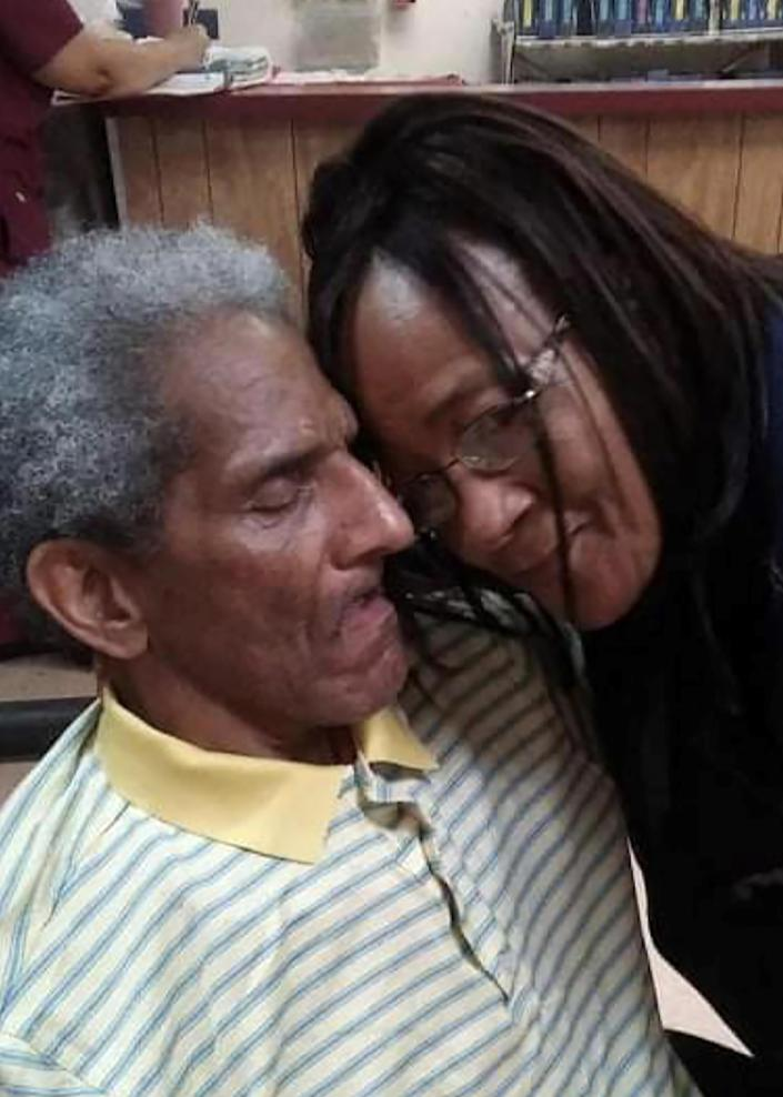 An image provided courtesy of Yvonne Blakeney shows Yvonne and her husband, David, at Dundee Manor, a 110-bed home in Bennettsville, S.C., in January 2017, five months before David's death. (Courtesy of Yvonne Blakeney via The New York Times)