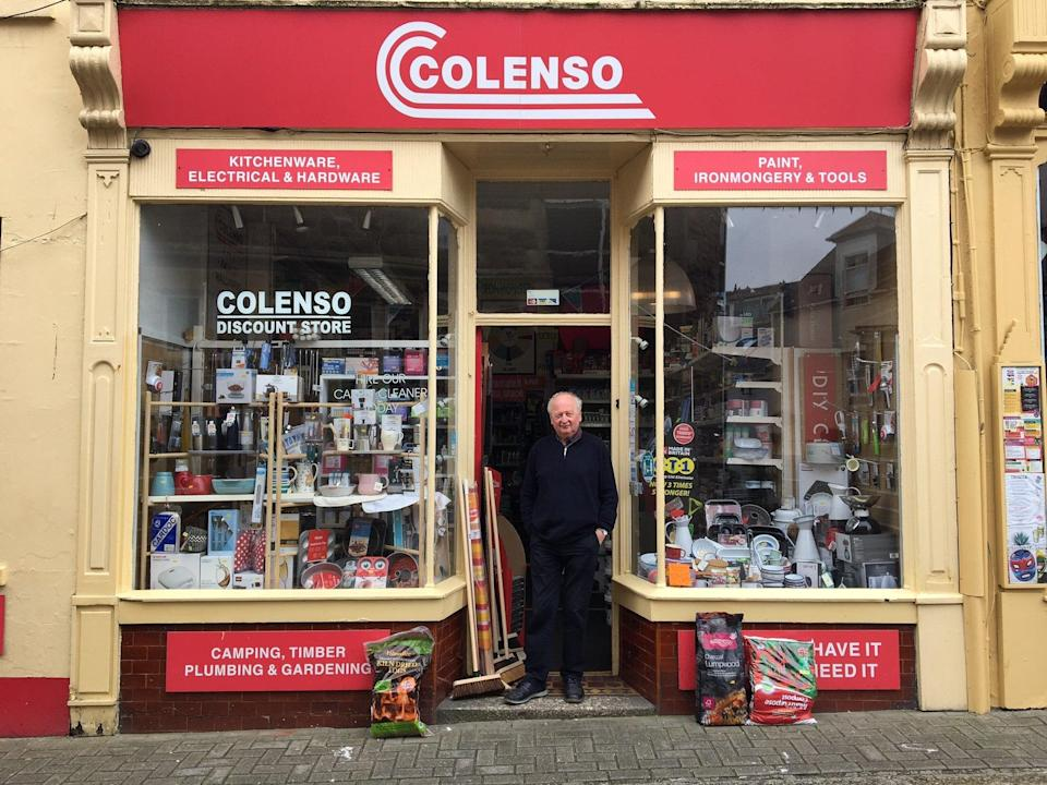 Colin Nicholls has run Colenso hardware shop for 54 years (The Independent)