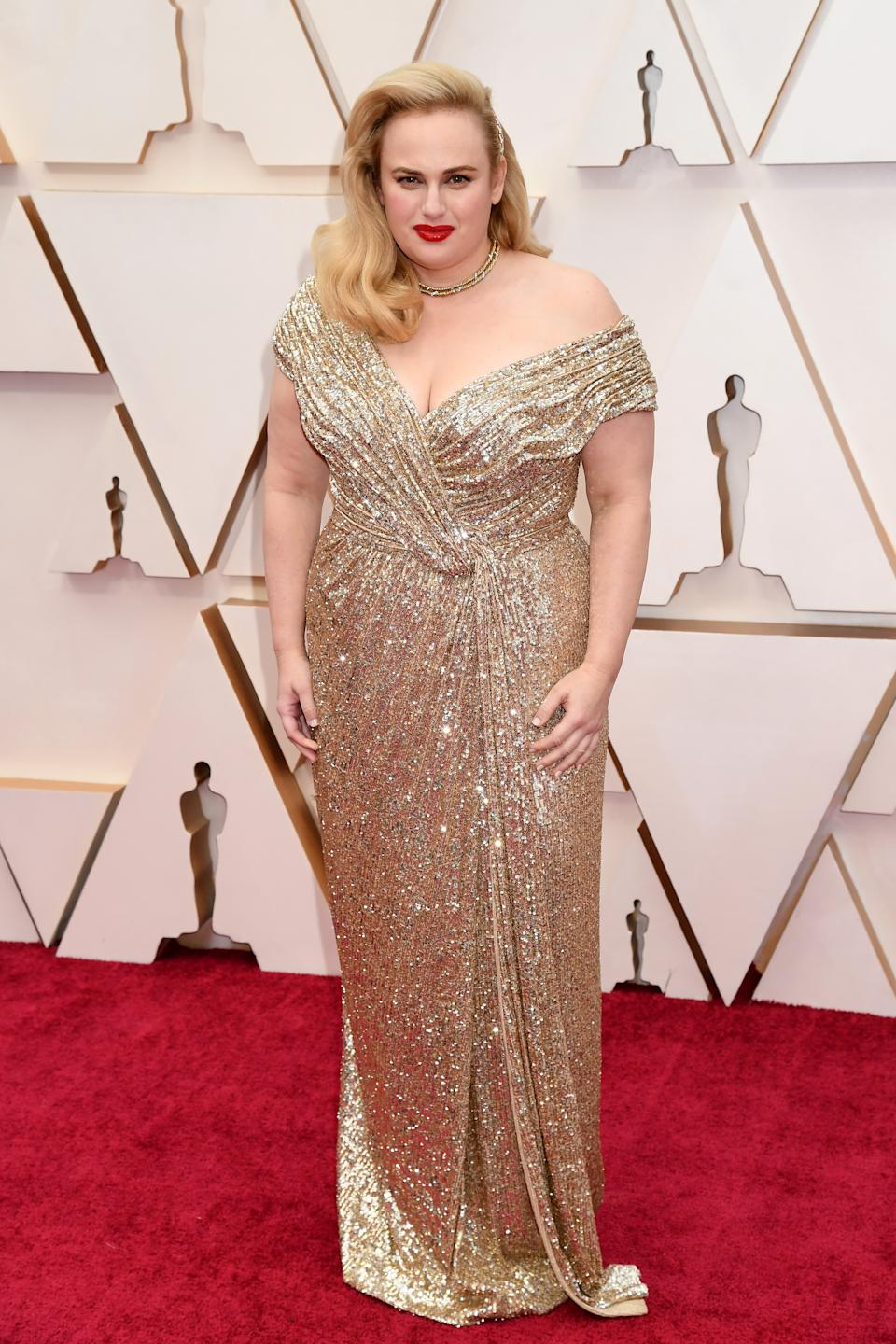Wilson channelled Oscar gold in a sparkling gown by Jason Wu.