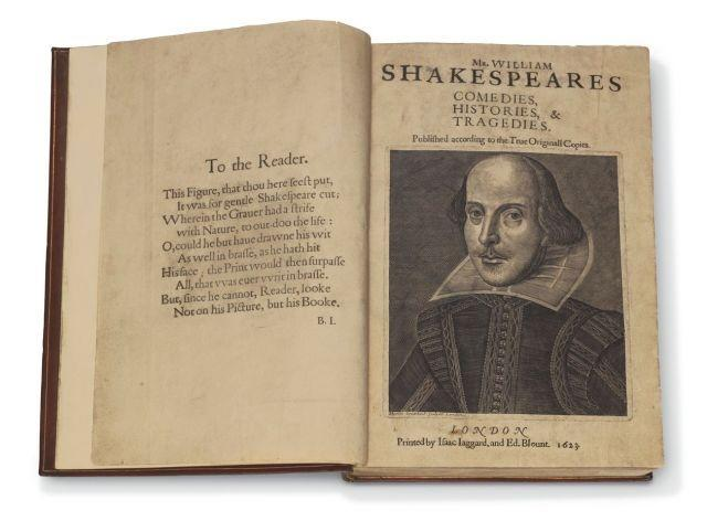 "Shakespeare's ""First Folio"" to be offered at Christie's Exceptional Sale"