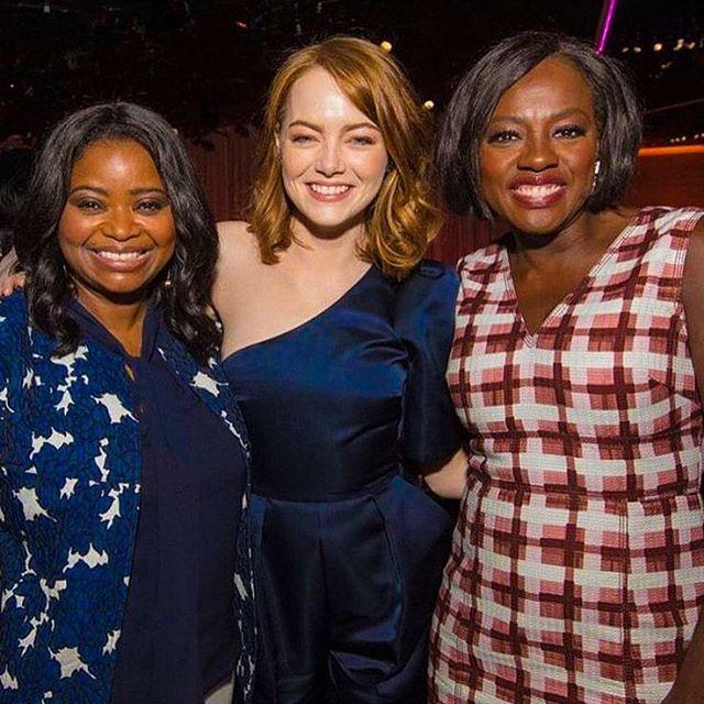 "<p>There was a mini reunion for the ladies from <i>The Help</i> as Octavia Spencer, Emma Stone, and Viola Davis met up at the annual Oscars Luncheon, each nominated in new roles. ""Love love love these women!!! #TheHelp #AcademyLuncheon #HiddenFigures #LaLaLand #FencesMovie,"" wrote Davis. (Photo: <a rel=""nofollow"" href=""https://www.instagram.com/p/BQOOOfRBRmN/"">Instagram</a>) </p>"