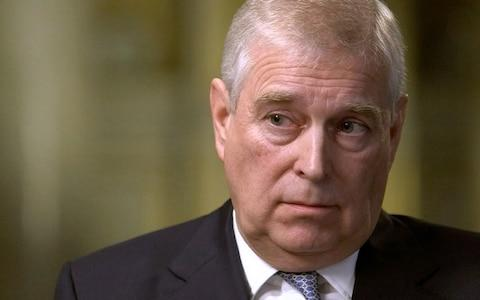 Prince Andrew during his interview with BBC Newsnight's Emily Maitlis - Credit: Enterprise News and Pictures