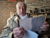 Hernan Mastrangelo, a 100-year-old fan of Lionel Messi, writes down all of Messi's goals in his notebook in Buenos Aires