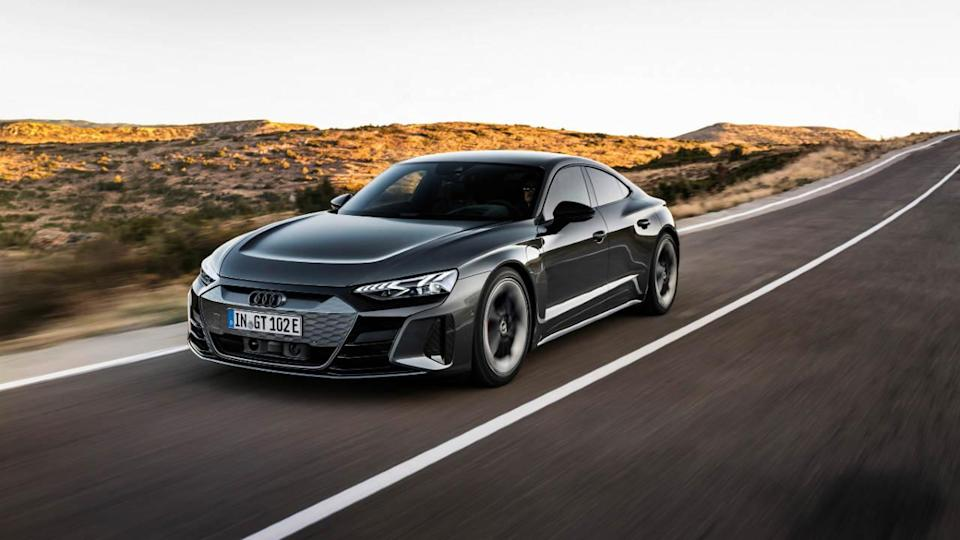 Both the standard as well as the RS versions of the Audi e-tron GT will be on sale in India. Image: Audi
