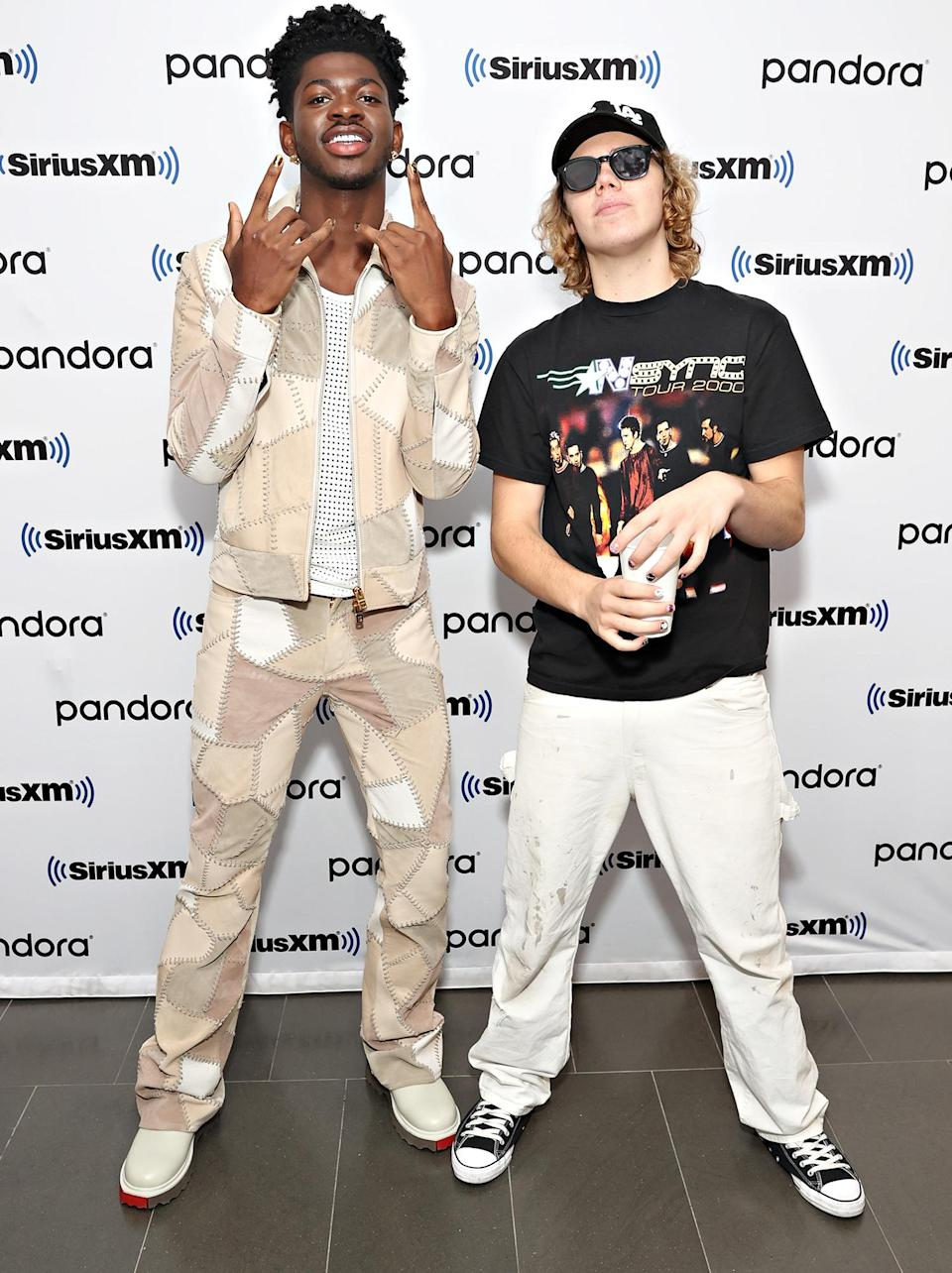 <p>Lil Nas X and The Kid LAROI visit the SiriusXM Studios on Sept. 14 in N.Y.C.</p>