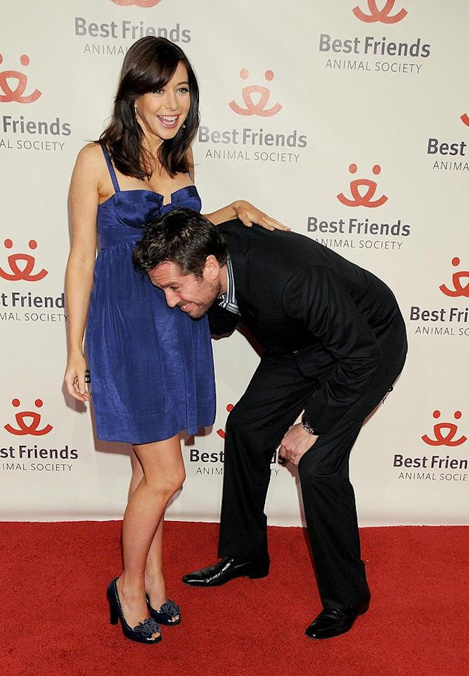 "No word on whether Alyson Hannigan's real-life pregnancy will be written into ""How I Met Your Mother."" The actress and her husband Alexis Denisof joked around on the red carpet at the 15th Annual Lint Roller Party on Thursday. Gregg DeGuire/<a href=""http://www.wireimage.com"" target=""new"">WireImage.com</a> - November 1, 2008"