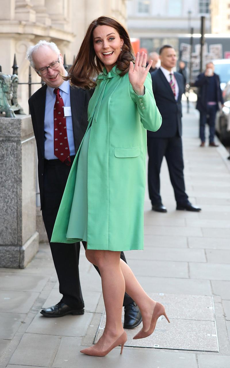 The Duchess of Cambridge arrives at the Early Intervention for Children and Families Symposium in London - GC Images