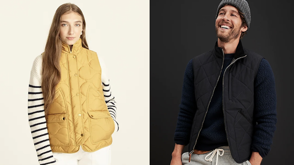 You'll find both women's and men's vests at J.Crew.