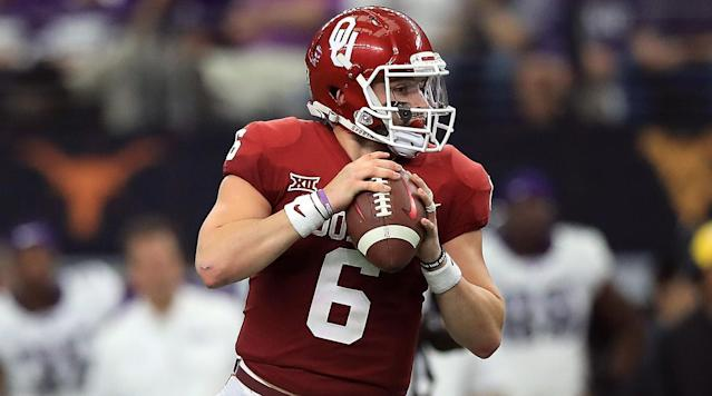 <p>Oklahoma quarterback Baker Mayfield and Stanford running back Bryce Love lead the Associated Press All–America Team, which was released Monday.</p><p>Mayfield threw for 4,340 passing yards and 41 touchdowns, adding another five scores on the ground.</p><p>He led the nation in passing efficiency, completion percentage, passing yards per completion and points responsible for, capping off his season winning the Heisman Trophy and leading the Sooners to the College Football Playoff.</p><p>Love, the Heisman runner-up, was second in the nation in rushing with 1,973 yards and averaged 8.3 yards per carry.</p><p>Here is the rest of the 2017 First Team AP All–America Team, along with the second and third teams. </p><h3>Offense</h3><p>Quarterback – Baker Mayfield, senior, Oklahoma<br>Running backs – Bryce Love, junior Stanford; Rashaad Penny, senior, San Diego State<br>Receivers ?–- James Washington, Oklahoma State, Anthony Miller, senior, Memphis<br>Tight end — Mark Andrews, junior, Oklahoma<br>Tackles — Orlando Brown, junior, Oklahoma; Mike McGlinchey, senior, Notre Dame<br>Guards — Quenton Nelson, senior, Notre Dame; Braden Smith, senior, Auburn<br>Center – Center — Billy Price, senior, Ohio State<br>All-purpose player — Saquon Barkley, junior, Penn State<br>Placekicker — Matt Gay, junior, Utah</p><h3>Defense</h3><p>Ends — Bradley Chubb, senior, North Carolina State; Clelin Ferrell, sophomore, Clemson<br>Tackles — Hercules Mata'afa, junior, Washington State; Maurice Hurst, senior, Michigan<br>Linebackers — Roquan Smith, junior, Georgia; Josey Jewell, senior, Iowa; T.J. Edwards, junior, Wisconsin<br>Cornerbacks — Josh Jackson, junior, Iowa; Denzel Ward, junior, Ohio State<br>Safeties — Minkah Fitzpatrick, junior, Alabama; DeShon Elliott, junior, Texas<br>Punter — Michael Dickson, junior, Texas</p><h3>Second team</h3><p>Quarterback — Lamar Jackson, junior, Louisville<br>Running backs — Jonathan Taylor, freshman, Wisconsin; Kerryon Johnson, junior, Auburn<br>Tackles — Mitch Hyatt, junior, Clemson; Isaiah Wynn, senior, Georgia<br>Guards — Cody O'Connell, senior, Washington State; Will Hernandez, senior, UTEP<br>Center — Bradley Bozeman, senior, Alabama<br>Tight end — Troy Fumagalli, senior, Wisconsin<br>Receivers — David Sills V, junior, West Virginia; Michael Gallup, senior, Colorado State<br>All-purpose player — Dante Pettis, senior, Washington<br>Kicker — Daniel Carlson, senior, Auburn</p><p>Ends — Sutton Smith, sophomore, Northern Illinois; Nick Bosa, sophomore, Ohio State<br>Tackles — Ed Oliver, sophomore, Houston; Christian Wilkins, junior, Clemson<br>Linebackers — Malik Jefferson, junior, Texas; Ogbonnia Okoronkwo, senior, Oklahoma; Dorian O'Daniel, senior, Clemson<br>Cornerbacks — Jalen Davis, senior, Utah State; Carlton Davis, junior, Auburn<br>Safeties — Derwin James, junior, Florida State; Justin Reid, junior, Stanford<br>Punter — Johnny Townsend, senior, Florida</p><h3>Third Team</h3><p>Quarterback — Mason Rudolph, senior, Oklahoma State<br>Running backs — Ronald Jones II, junior, Southern California; Devin Singletary, sophomore, Florida Atlantic<br>Tackles — David Edwards, sophomore, Wisconsin; Jonah Williams, sophomore, Alabama<br>Guards — Beau Benzschawel, junior, Wisconsin; Tyrone Crowder, senior, Clemson<br>Center — Frank Ragnow, senior, Arkansas<br>Tight end — Jaylen Samuels, senior, North Carolina State<br>Receivers — Steve Ishmael, senior, Syracuse; A.J. Brown, sophomore, Mississippi<br>All-purpose player — D.J. Reed, junior, Kansas State<br>Kicker — Eddy Piniero, junior, Florida</p><p>Ends — Austin Bryant, junior, Clemson; Mat Boesen, senior, TCU<br>Tackles — Vita Vea, junior, Washington; Harrison Phillips, senior, Stanford<br>Linebackers — Micah Kiser, senior, Virginia; Tremaine Edmunds, junior, Virginia Tech; Devin Bush, sophomore, Michigan<br>Cornerbacks — Andraez Williams, redshirt freshman, LSU; Jack Jones, sophomore, Southern California<br>Safeties — Armani Watts, senior, Texas A&M; Quin Blanding, senior, Virginia<br>Punter — Mitch Wisnowsky, junior, Utah</p>