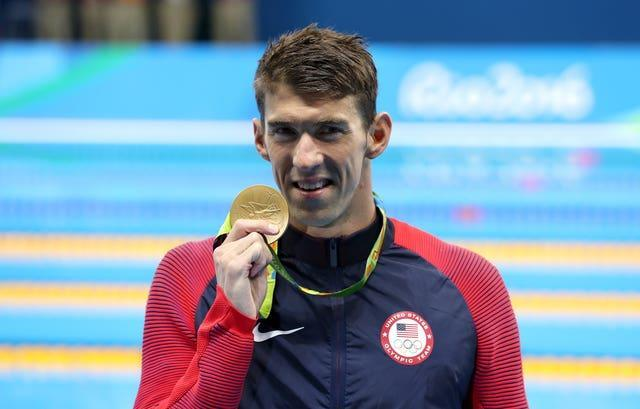 Dean says he idolises 23-time Olympic champion Michael Phelps, pictured (Martin Rickett/PA)