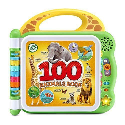 """<p><strong>LeapFrog</strong></p><p>amazon.com</p><p><strong>$13.49</strong></p><p><a href=""""https://www.amazon.com/dp/B085KTQKNC?tag=syn-yahoo-20&ascsubtag=%5Bartid%7C10055.g.5152%5Bsrc%7Cyahoo-us"""" rel=""""nofollow noopener"""" target=""""_blank"""" data-ylk=""""slk:Shop Now"""" class=""""link rapid-noclick-resp"""">Shop Now</a></p><p>This bilingual toy <strong>identifies animals, makes sound effects and offers fun facts</strong> about creatures in both English and Spanish. It's perfect for getting kids interested in the world around them while building their vocabularies. <em>Ages 18 months+</em></p>"""