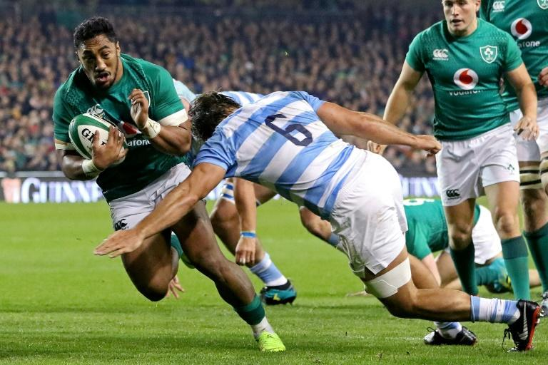 Ireland centre Bundee Aki scored one of his side's three tries in a costly win over Argentina with three key players  injured