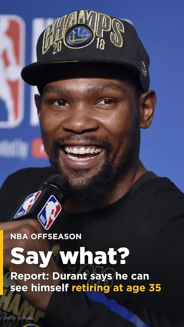 Days after he won his second NBA Finals, another finals in which he was named the Most Valuable Player, Kevin Durant spoke to ESPN's Chris Haynes. The topic of retirement was mentioned.