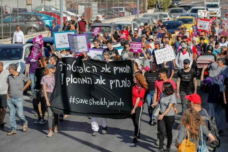 Palestinian, Israel and international activists have been protesting for more than a decade against the planned expulsions in Sheikh Jarrah