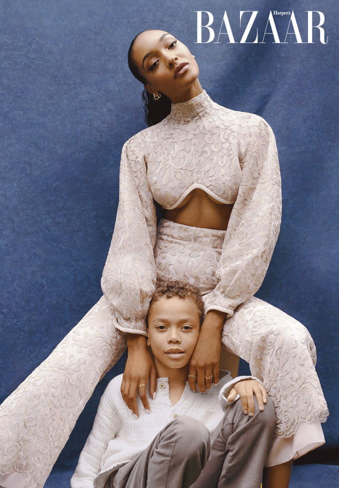 Jourdan Dunn and her son appear in the upcoming issue of Harper's Bazaar