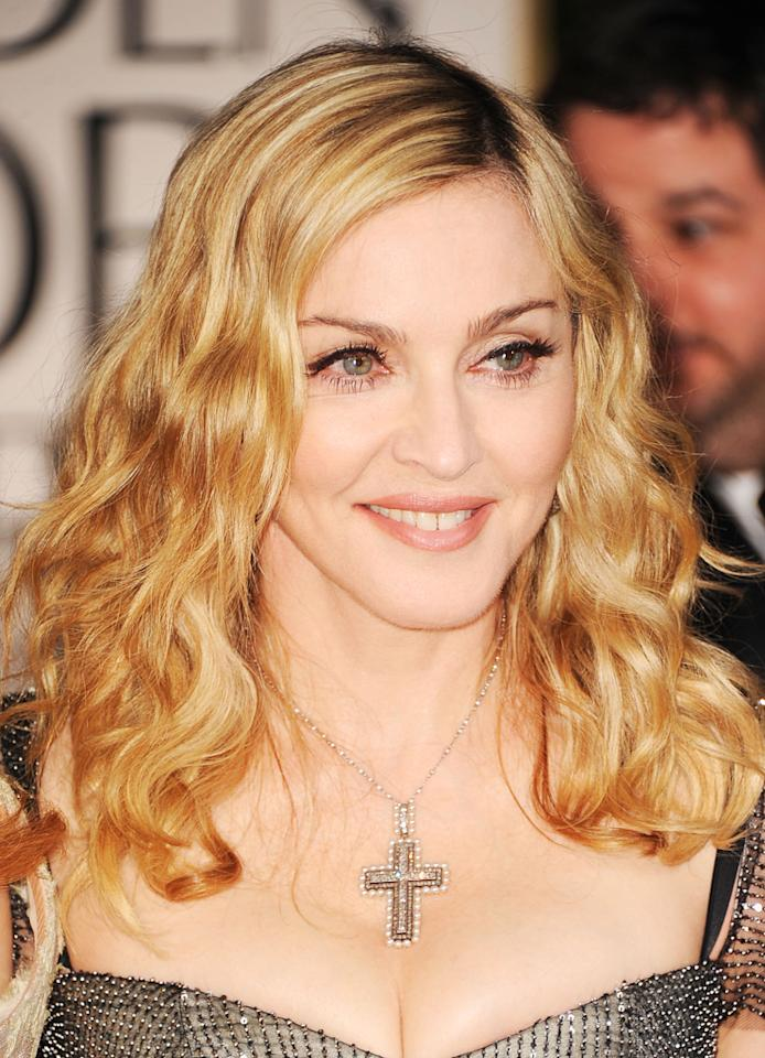 BEST: Madonna arrives at the 69th Annual Golden Globe Awards in Beverly Hills, California, on January 15.