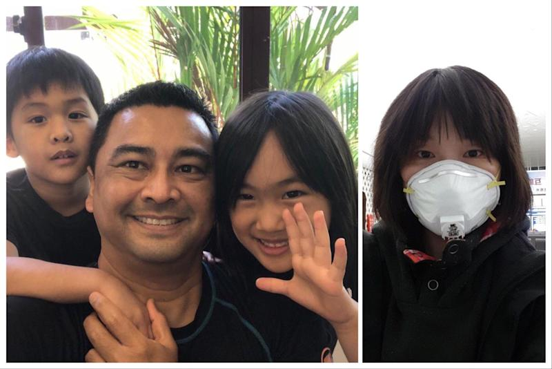 Qu Haiyan, 41, has not seen her husband Faisal Bushfield, 54, and their children Arden, 5, and Ariane, 6, since they were separated in Wuhan amid the coronavirus outbreak. PHOTO: Faisal Bushfield/Qu Haiyan