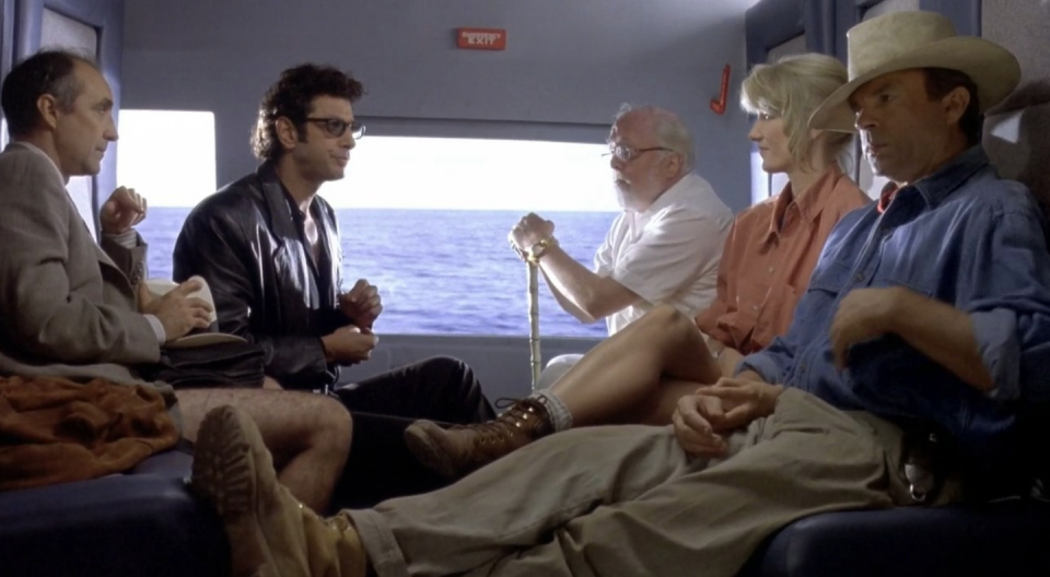 <p>Ranger chic is a hard look to pull off, but Laura Dern makes it look easy in <em>Jurassic Park </em>in 1993 with her brown lace-up hiking boots.</p>