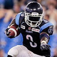 Argonauts running back Cory Boyd in action against the Stampeders on Wednesday
