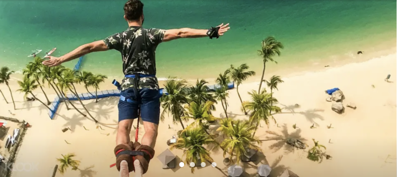 AJ Hackett Sentosa Bungy Jump in Singapore, S$49(was S$159). PHOTO: Klook