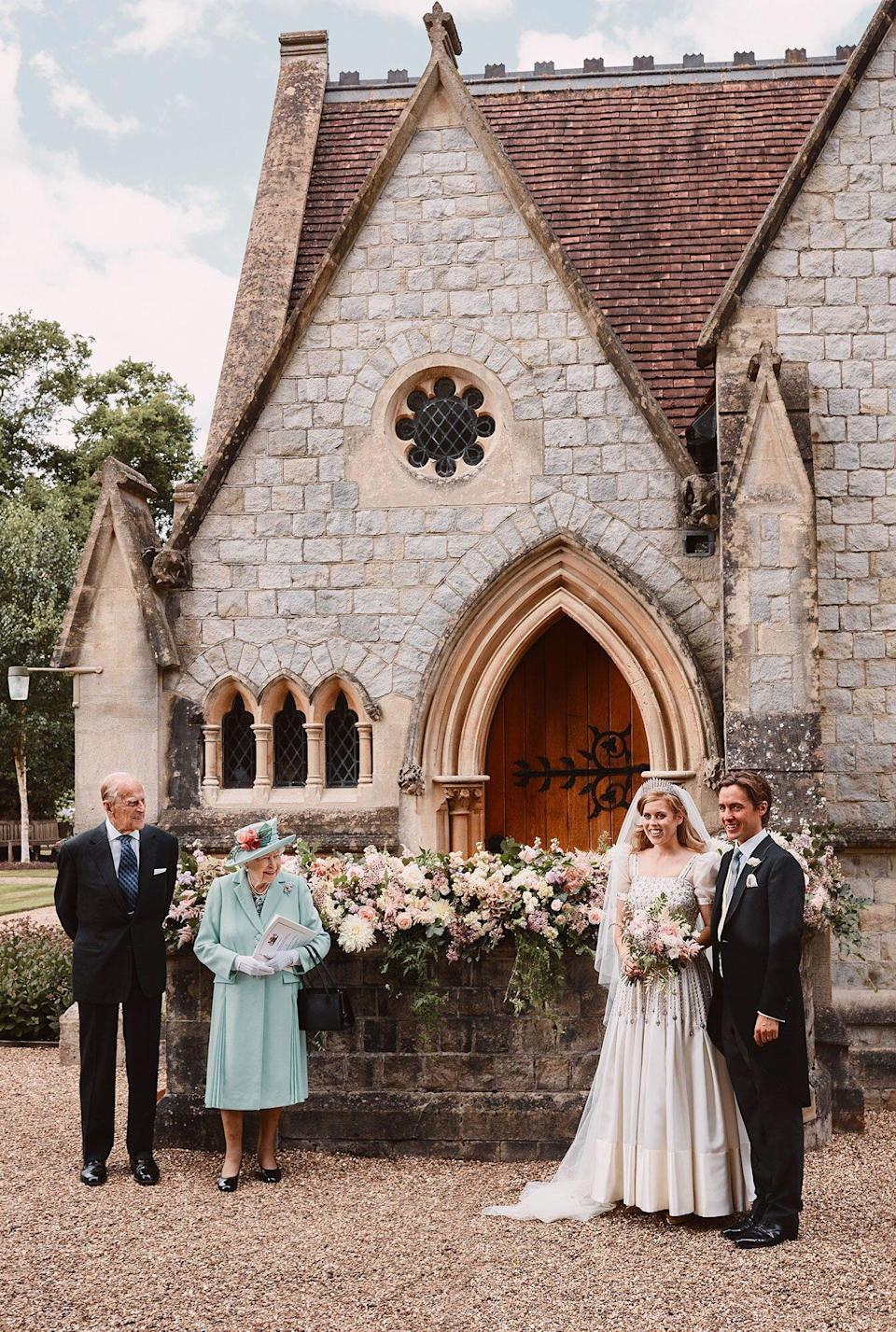 Embargoed: Not for publication or onward transmission before 2200 BST Saturday July 18, 2020. Princess Beatrice wedding