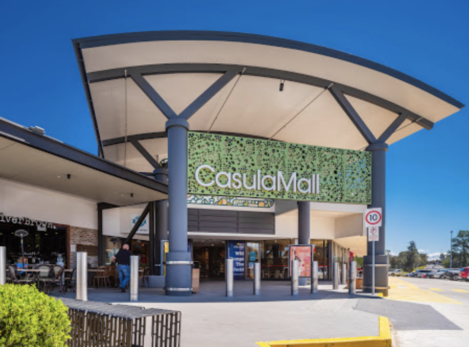 Front of the Casula Mall in NSW.