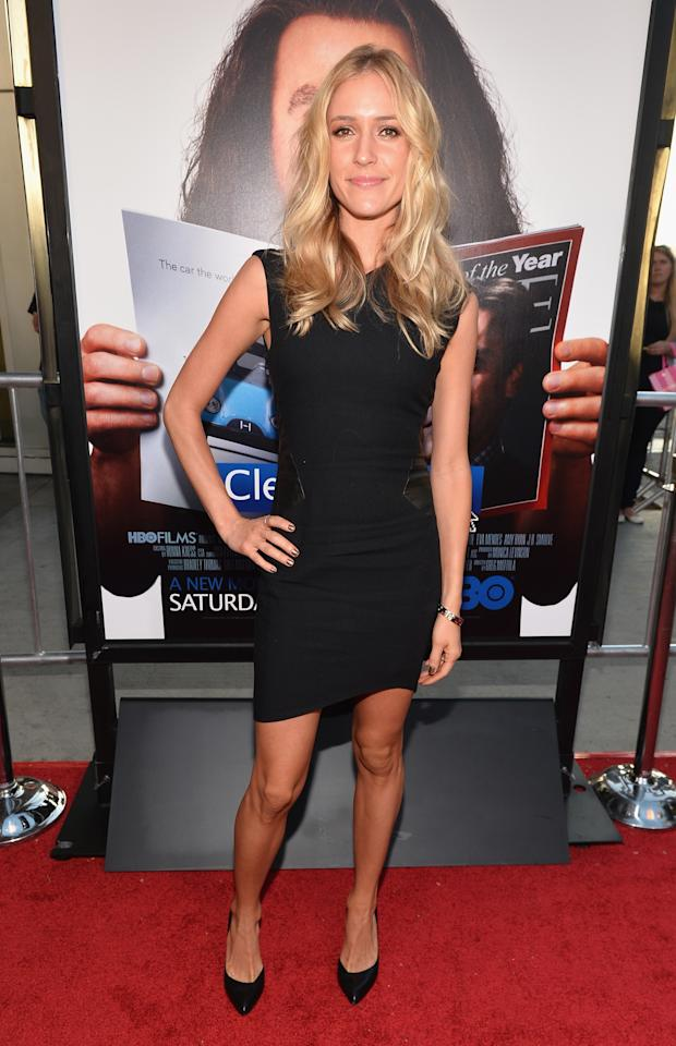 "HOLLYWOOD, CA - JULY 31: Tv personality Kristin Cavallari arrives to the premiere of HBO Films' ""Clear History"" at ArcLight Cinemas Cinerama Dome on July 31, 2013 in Hollywood, California. (Photo by Alberto E. Rodriguez/Getty Images)"
