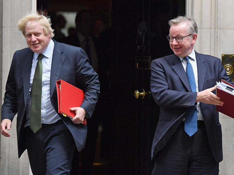 Boris Johnson and Michael Gove leave 10 Downing Street during Theresa May's premiership: Chris J Ratcliffe/Getty Images